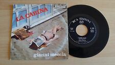 "GIANNI MECCIA - LA CABINA - 45 GIRI 7"" - ITALY PRESS"