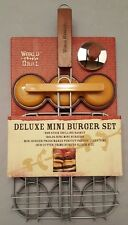 World Market 3 Pc BBQ Grilling Deluxe Mini Burger Set NEW - 9 Patties - Camping