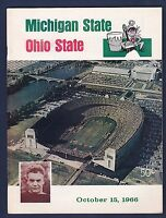 Michigan State Spartans vs Ohio State Buckeyes 1966 College FB Program