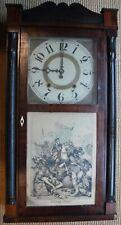 Antique Prichard & Monson Mantel Clock, 1840's, Wood Jeromes 30-Hour Movement
