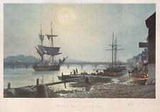 John Stobart Print - Georgetown: Water Street by Moonlight in 1845.