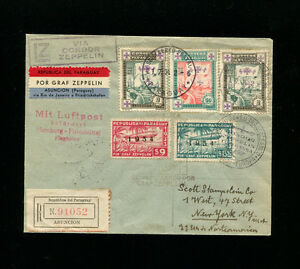 Zeppelin Sieger 264 1934 4th South America Flight Paraguay  Post  to USA