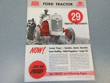 Nice Original 1950 Ford 8N Tractor Brochure with 29 Improvements