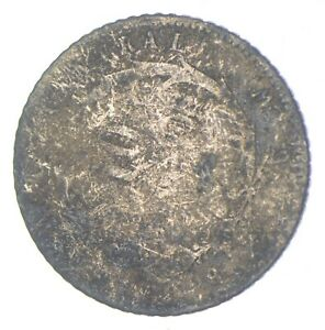 SILVER Roughly Size of Dime 1887 Costa Rica 10 Centavos World Silver Coin *068
