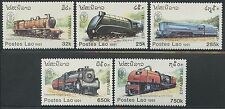 "LAOS N°1009/1013** Trains, ""Espamer 91"" , 1991 Locomotives set MNH"