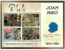 MODERN GEMS - Maldives - Joan Miro - Sheet Of 4 - MNH