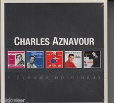 CHARLES AZNAVOUR/Jezebel, sur ma vie, c'est ca et al. (5 CD, NOUVEAU! neuf dans sa boîte)