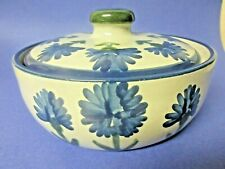 Vintage Louisville Stoneware Co. Cornflower 9 inch cassarole Made in Kentucky