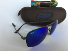 Maui Jim LAVA TUBE Polarized Titanium Sunglasses B786-02S Gunmetal/Blue Hawaii
