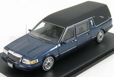 wonderful modelcar LINCOLN Towncar Hearse 1997 - bluemetallic/black - 1/43 - ltd