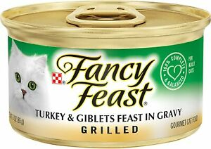 Purina Fancy Feast Turkey & Giblets Grilled in Gravy (12) 3oz Cans
