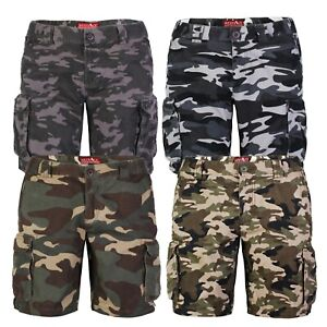 Mens Army Casual Work Cargo Combat Camouflage Shorts 6 Pocket Half Pants