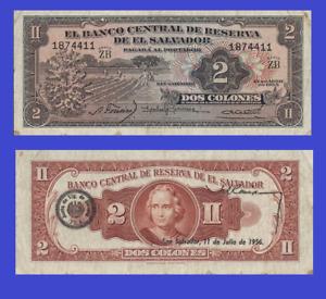 El Salvador 2 colon colones 1955 UNC - Reproduction