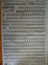 LETRASET Rub on Letter Transfers TIFFANY LIGHT 48pt 12mm (#LG1604) used