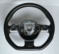 08-15 Audi TT MK2 Flat Bottom Sport Steering Wheel 8J0419091C BLACK LEATHER OEM