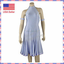L151 Large Ballroom Latin Rhythm Salsa Show Case Competition Dance Dress Costume