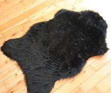 Black Sheepskin Plain Cheap Fluffy Rug Soft Faux Fur Fake Mats Washable New Rugs