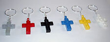 6 LEGO CROSS  KEY RINGS CHAINS RELIGIOUS PARTTY  SUNDAY BIBLE CHURCH SCHOOL