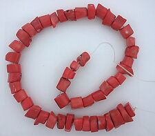 Large Peach Coral Branch 10mm to 19mm Long 14 Inch Bead Strand Gemstone cb27