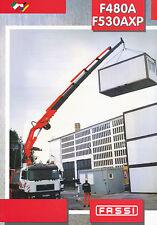 Fassi F480A F530AXP Ladekran Prospekt 10 00 2000 brochure loader cranes (I,F,D)