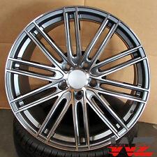 21 Mesh Style Gunmetal Machined Staggered Wheels Fits Porsche Cayenne Q7 Touareg