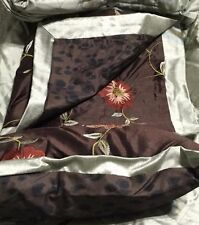 Highgate Manor 9 piece King Size Comforter Set Sage Brown Floral Bedding