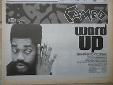 "CAMEO - WORD UP SEPTEMBER 1986 BRITISH TOUR DATES N.M.E. ADVERT PICTURE 11"" X 8"""