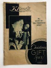 1930 Kline's Department Store Christmas Catalog Jacksonville, Illinois