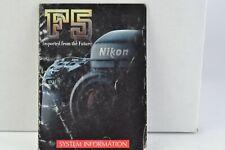Nikon F5 Camera System Information Chart Brochure English AC (138)