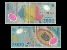 Romania P111a, 2000 Lei, POLYMER eclipse / solar system used