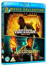 National Treasure 1 & 2 Double Pack [Blu-ray Set, 2 Movies, Book of Secrets] NEW