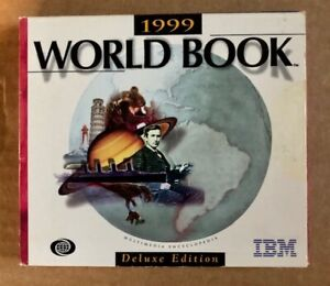 1999 World Book Multimedia Reference Library - IBM 2 x CD-ROM Set Deluxe Edition