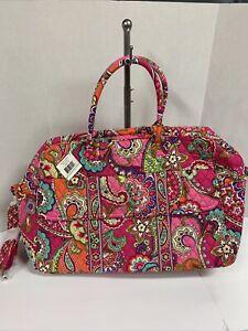 NWT Vera Bradley Pink Swirls Grand Traveler Weekender Duffel Bag Luggage Tote