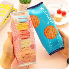 Set of 2 Cracker Macaroon Fashion Simulation School Cute Makeup Pencil Bag Case