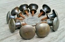 """10 Solid Brass Stacking Barrister Bookcase Hoosier 3/4"""" Knobs handles pulls #K1"""