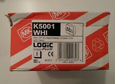 MK K5001 WHI LOGIC Plus 45A DP Surface Metal Cooker Unit With Neon  BNIB