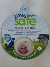 Pawsitively Safe Small PINK Lost Pet Finder Tag  Dog/Cats Secure Mobile Tablet