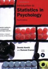 Introduction to Statistics in Psychology,Dr Dennis Howitt, Prof Duncan Cramer