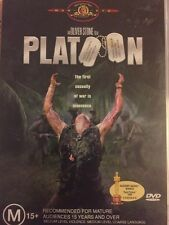 PLATOON (Charlie SHEEN Tom BERENGER) - Oliver STONE War Film - DVD - Free Post!