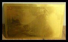 """★★★ BILLET POLYMER  """"OR """" DU 20 FRANCS PECHEUR ● DESTOCKAGE ★★ REF5 ★★"""
