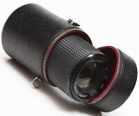 "Vintage Hard Lens Case 4"" For Sigma Olympus Vivitar Ricoh Zoom Prime Lenses"