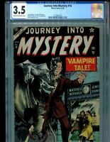 Journey into Mystery 16 CGC 3.5 Classic Harry Anderson Vampire $395!! PCH 1954