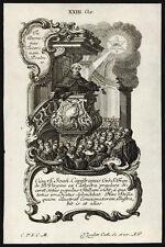 santino incisione 1700 S.GIOVANNI DA CAPESTRANO   klauber