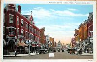 1930s Postcard: Mahoning Street looking West - Punxsutawney, Pennsylvania PA
