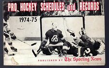 1974-75 The Sporting News Pro Hockey Schedules & Records Booklet
