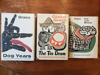 Gunter Grass Danzig Trilogy First Edition 1st Printing of Tin Drum Dog Years Cat