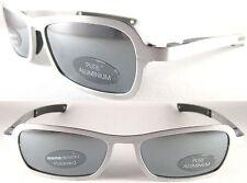 RARE MOMO DESIGN/Gents SUNGLASSES 2009, pure Alluminio, Silver/Black-Grey