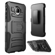 Motorola Moto G5 Plus Case Hard&Soft Rubber Hybrid Armor Impact Defender Cover
