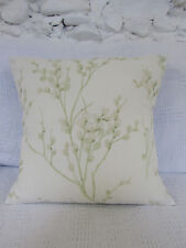 Cushion Cover, Laura Ashley. Pussy Willow, Apple, Greens, Ivory.