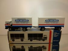 LION CAR 76 + 77 DAF 2100 TRUCK + TRAILER KEES VAN IERSEL 1:50 VERY GOOD IN BOX